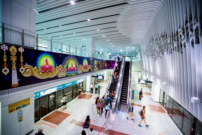 MRT station in Little India in Singapore