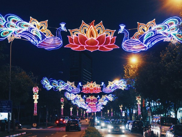 Diwali 2016 decoration in Singapore