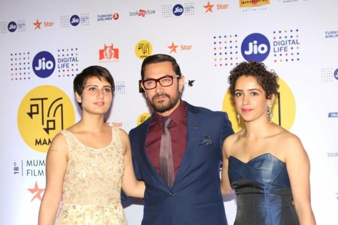 Aamir Khan Fatima Sana Shaikh and Sanya Malhotra
