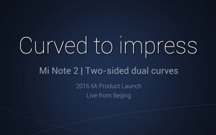 Xiaomi Mi Note 2 launch live streaming