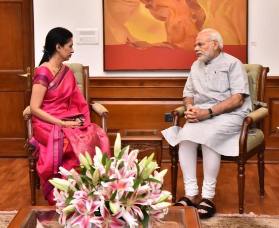 Gautami with Prime Minister Narendra Modi