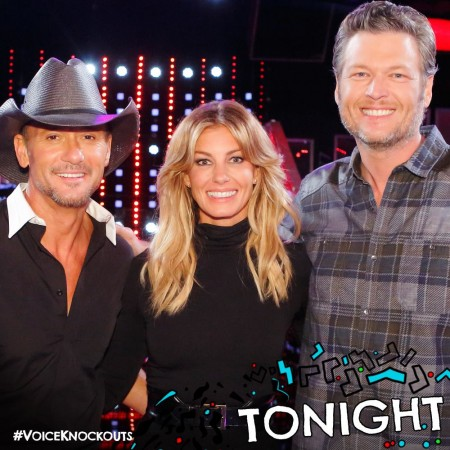 "Tim McGraw, Faith Hill and Blake Shelton on the ""The Voice"" Season 11"