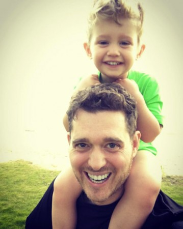 Michael Buble with son Noah
