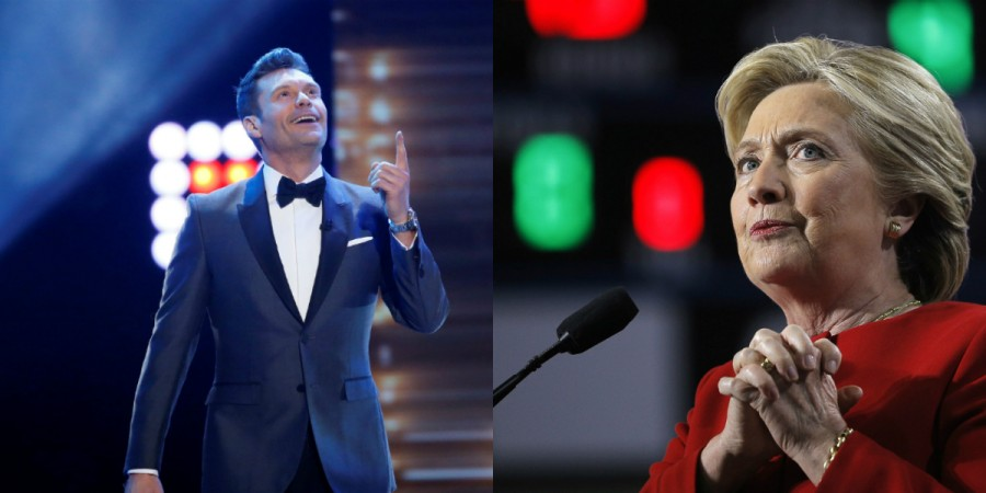 Hillary Clinton and Ryan Seacrest
