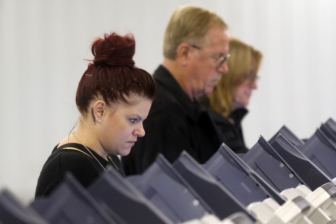 voters at polling booths