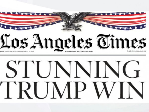 Los Angles Times Trump Win