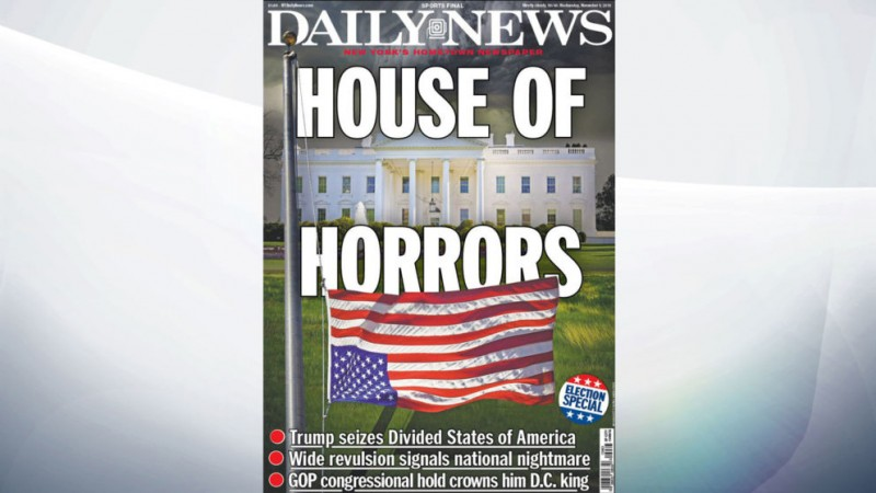 New York Daily reacts to trump victory