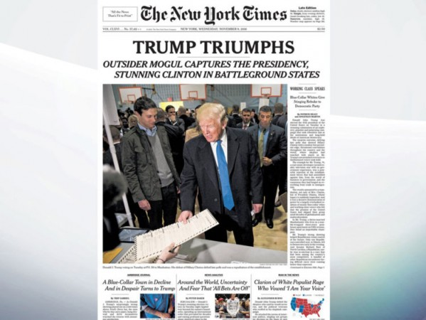New York Times reacts to trump victory