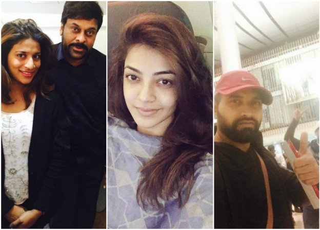 Chiranjeevi and Kajal Aggarwal in Europe