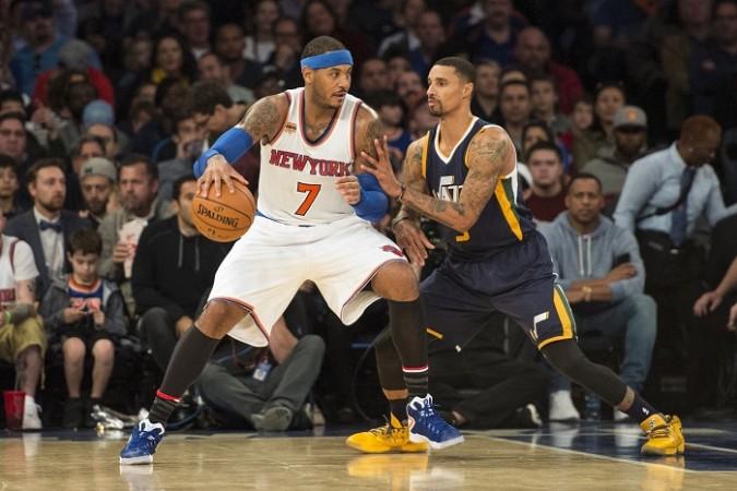 Carmelo Anthony New York Knicks George Hill Utah Jazz