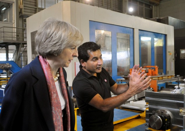 theresa may modi india visit trade bilateral brexit pound sterling decline investment ficci didar singh meetings talks discussions agreements deals lecture indian it companies tata steel tcs maruti mahindra
