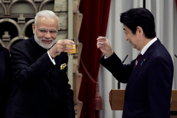modi japan visit india trade bilateral agreement tokyo china south china sea dispute territorial row bullet train shinzo abe pm defence ties technology