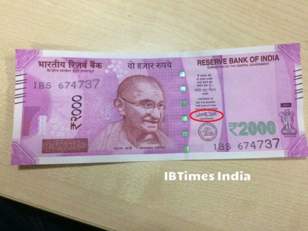The new Rs 2,000 currency note