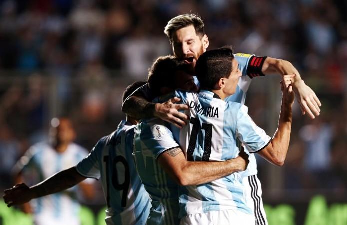 Lionel Messi Argentina Di Maria