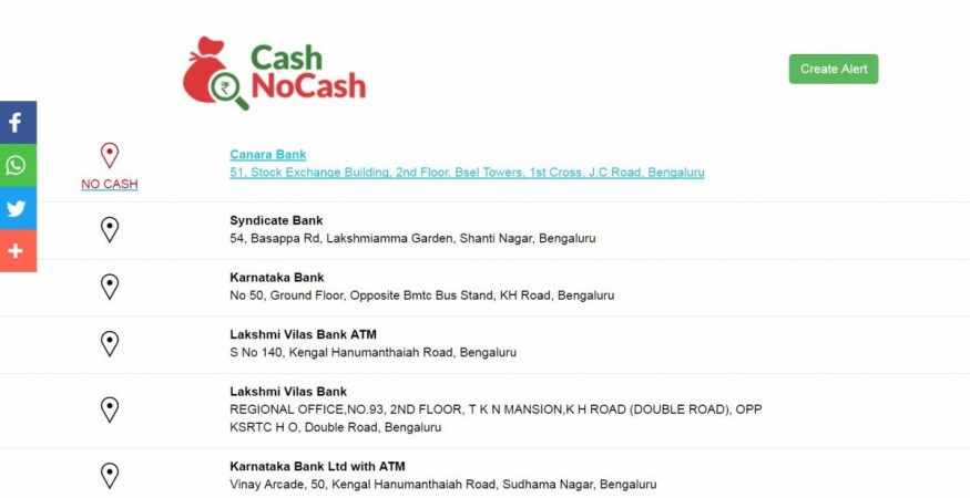 CashNoCash app will find you ATM with money