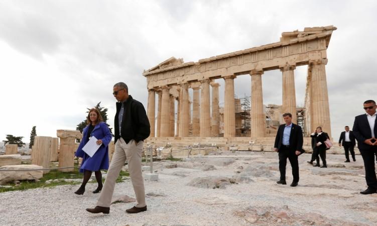 Barack Obama Tours Greek Ruins in Athens