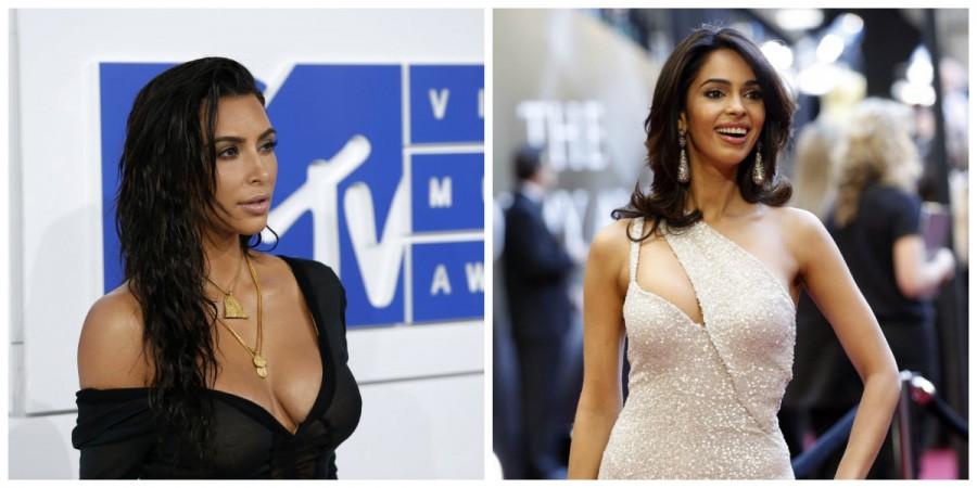 Kim Kardashian and Mallika Sherawat