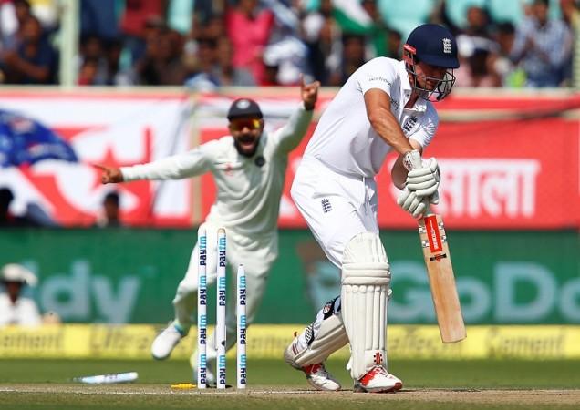 Alastair Cook England India stumps