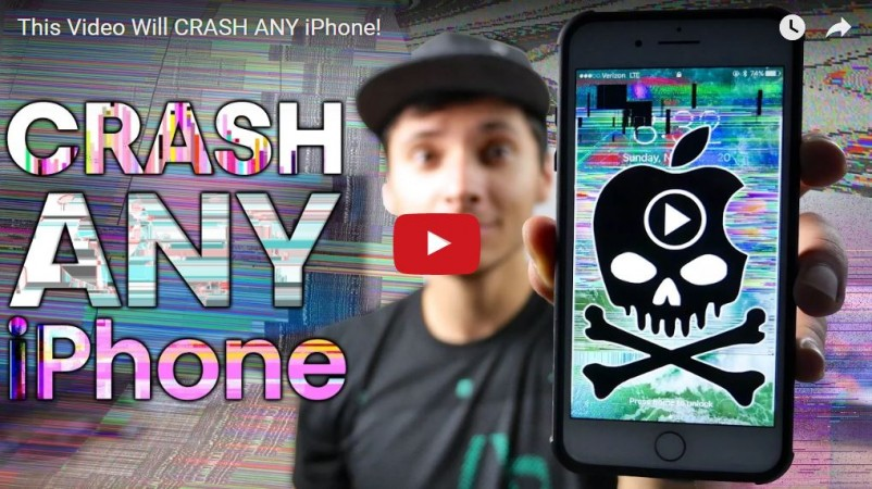 Malicious prank video sent via messenger apps makes Apple iPhones, iPads crash and freeze [How to restore it]