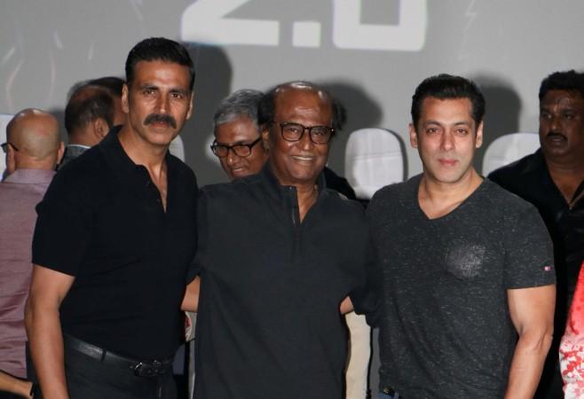 Akshay Kumar, Rajinikanth, Salman Khan