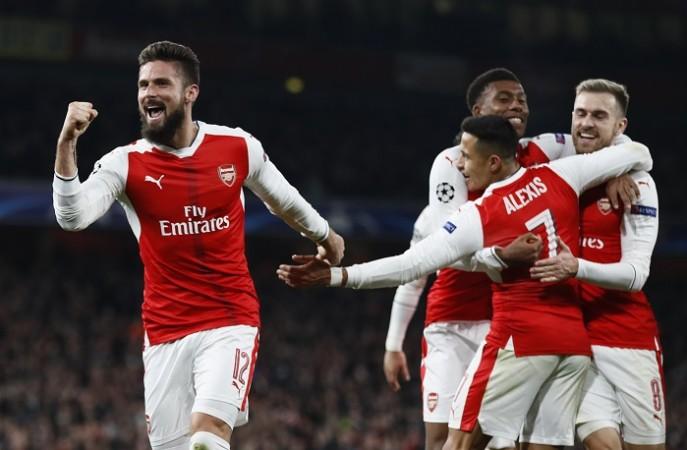 Olivier Giroud Arsenal Sanchez Ramsey Iwobi
