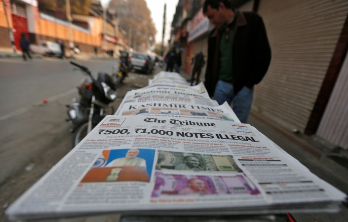 Demonetisation dominated Indian newspapers
