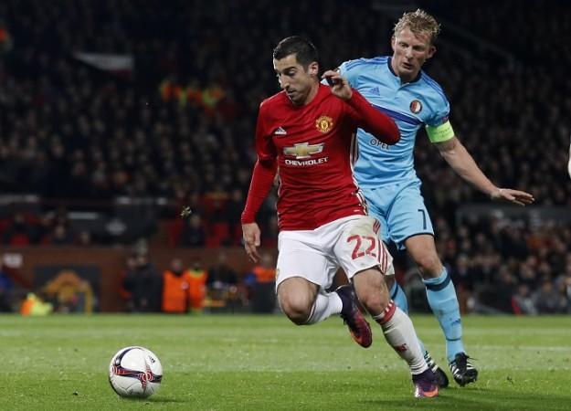 Henrikh Mkhitaryan Manchester United Dirk Kuyt Feyenoord