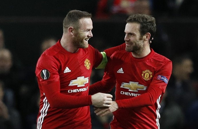 Wayne Rooney Juan Mata Manchester United
