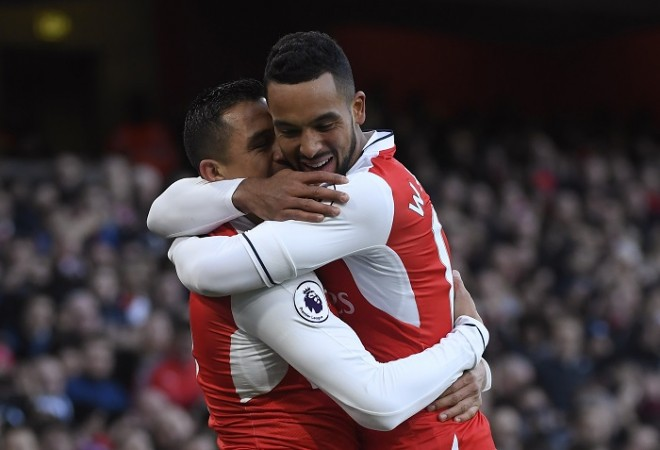 Alexis Sanchez Theo Walcott Arsenal