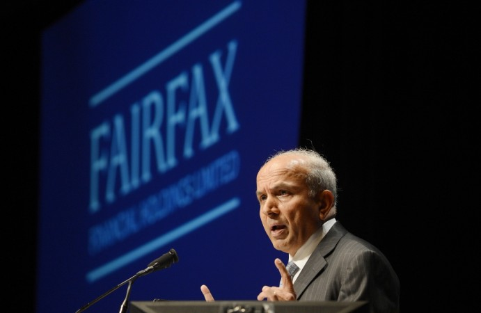 Prem Watsa-owned Fairfax Financial Holdings