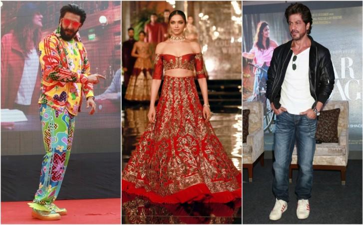 Ranveer Singh, Deepika Padukone, Shah Rukh Khan