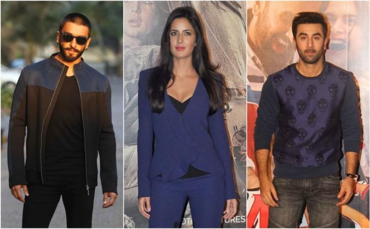 Ranveer Singh, Katrina Kaif, Ranbir Kapoor