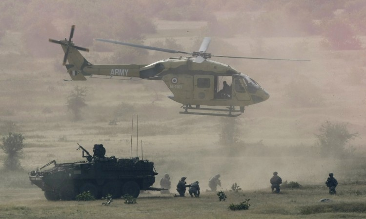 Three Army personnel injured during 'slithering' ops from helicopter