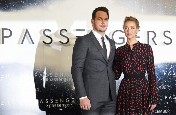 Chris Pratt and Jennifer Lawrence