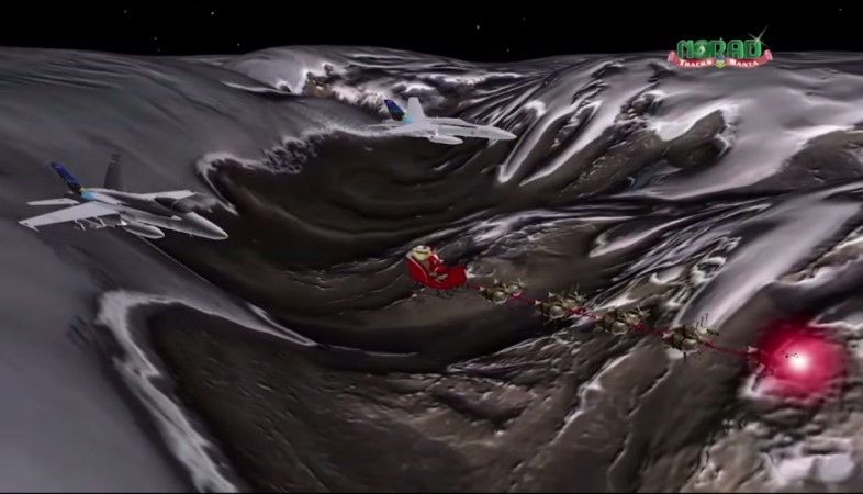 Track Santa Claus along his Christmas Eve journey to BC