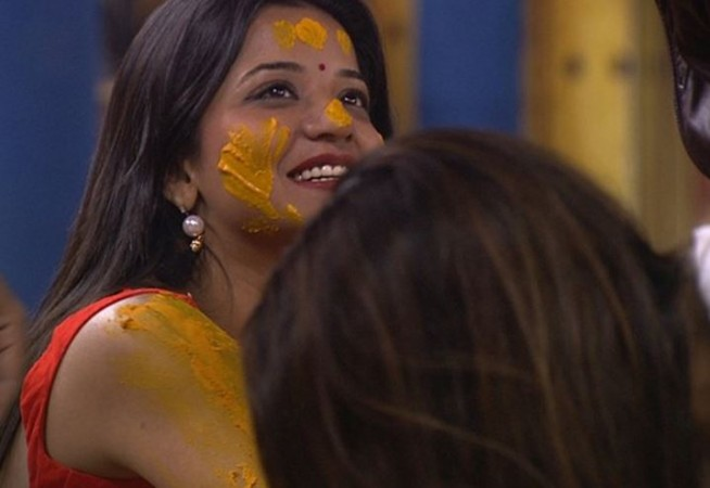 Monalisa and Vikrants haldi ceremony in Bigg Boss
