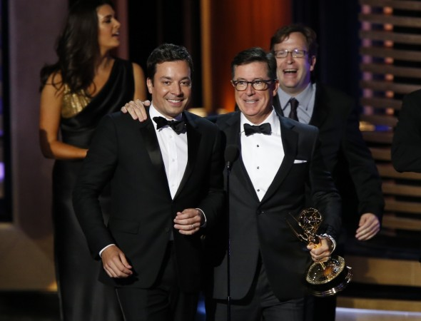 Stephen Colbert announced as Emmys host, trolls Trump in announcement