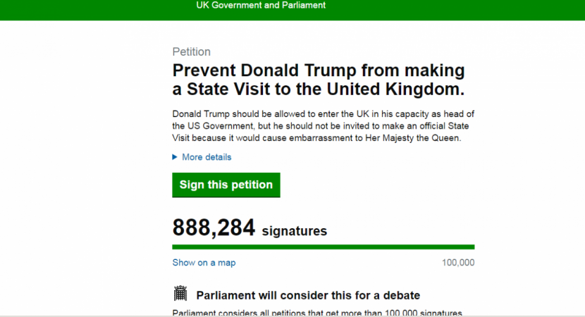 Trump petition