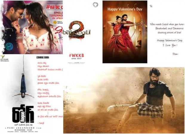 Baahubali Valentine's Day card, Puri Jagannadh, Rogue, Nara Rohit, Kathalo Rajakumari,Winner