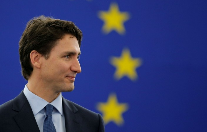 Justin Trudeau urges Canada and EU to lead world economy