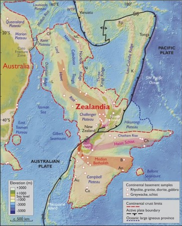 Zealandia, continent, 8th continent, Geology