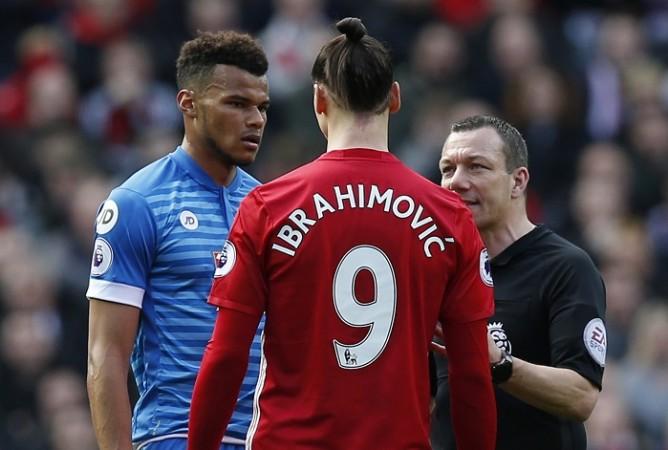 Kevin Friend, Mancvhester United, Premier League, Zlatan Ibrahimovic