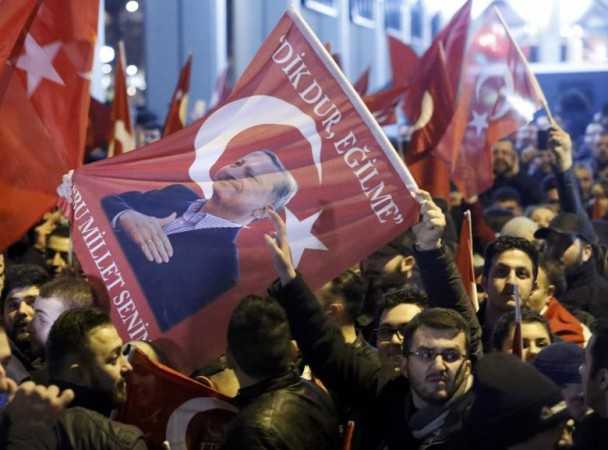 Turkish demonstrators
