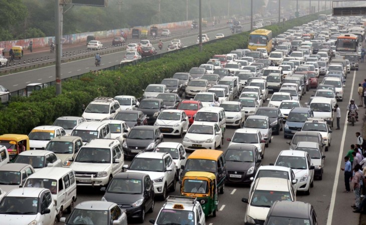A view of cars in Gurgaon