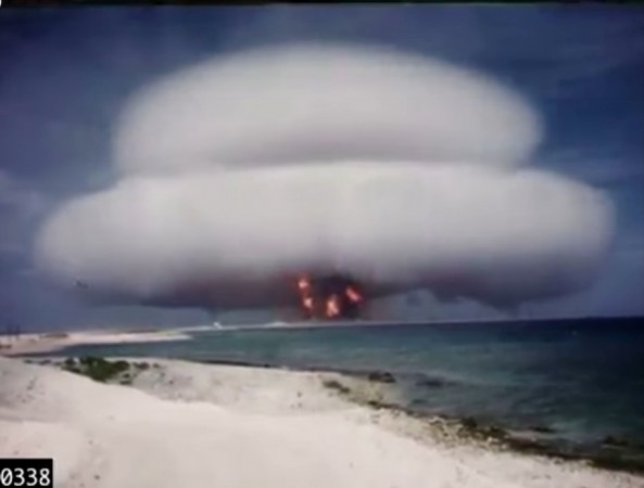 Historic nuclear weapons explosions footage released to public