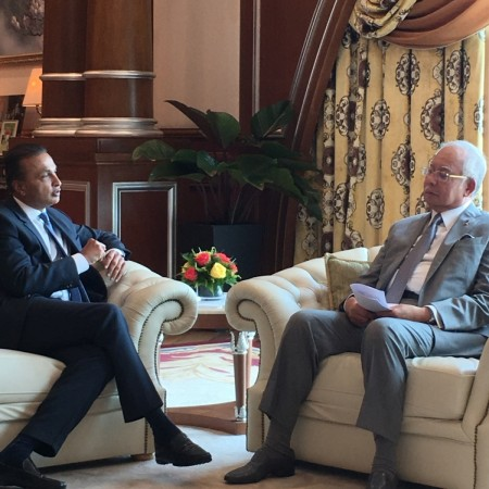 reliance capital chairman anil ambani, anil ambani meets malaysian pm najib razak, reliance in malaysia, adag companies, reliance capital share price