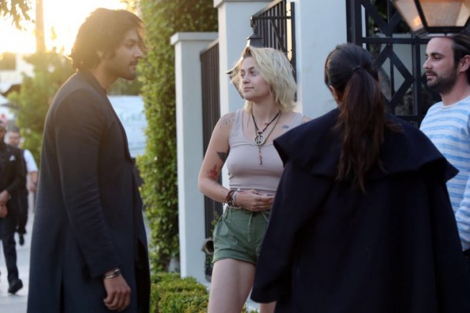 Ali Fazal and Richa Chadha with Paris Jackson