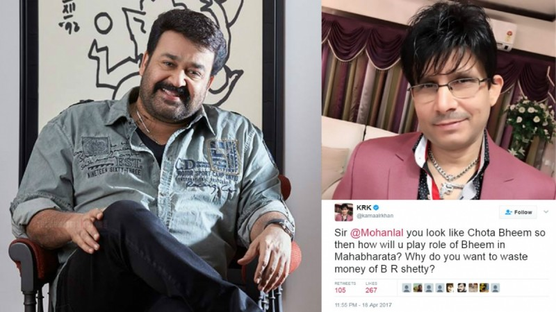 KRK now trolls Malyalam actor Mohanlal, calls him 'Chota Bheem'