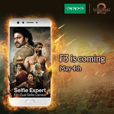 OPPO partners with Baahubali for F3 launch