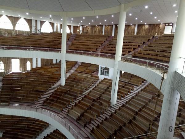 Interior of Sumi Baptist Church Zunheboto in Nagaland, India